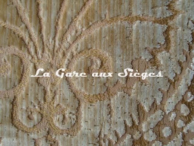 Tissu Fadini Borghi - Sforza - réf: I5004.001 Beige ( détail ) - Voir en grand