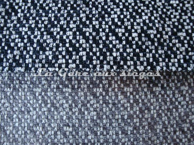 Tissu Jéro - Arty - réf: 9270 - Coloris: 01 Réglisse & 02 Etain - Voir en grand