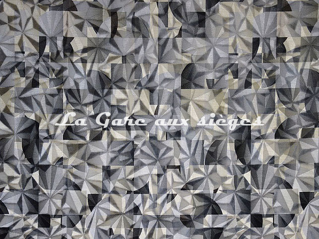Tissu Casal - Kaleidoscope - réf: 12844.6373 Titanium Caillou - Voir en grand