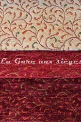 Tissu Amélie Prévot - Torcy - réf: 16103 - Coloris: 72 Beige - 75 Rouge - 80 bordeaux - Voir en grand