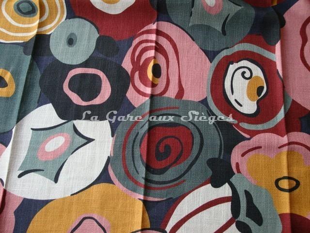 Tissu Gaston y Daniela - Flamingo - réf: GDT-5134 - Coloris: 004 Rosa/Verde - Voir en grand
