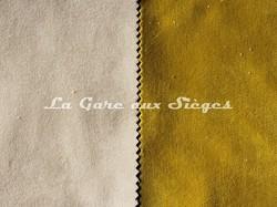 Tissu Casamance - Faveur - réf: 3823.0420 Nacre & 3823.1031 Moutarde - Voir en grand