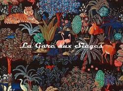Tissu Pierre Frey - Le jardin du palais - réf: F3470.002 Nuit ( détail )