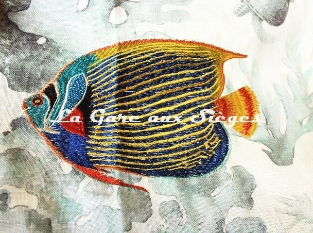 Tissu Casamance - Les Empereurs - réf: 4712.0112 ( détail ) - Voir en grand