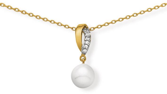 Ensemble chaîne pendentif perle imitation 2574095 52¤ - Voir en grand