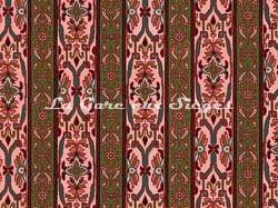 Tissu House of Hackney - Mamounia velvet - Coloris: Amaranth/Juniper - Voir en grand