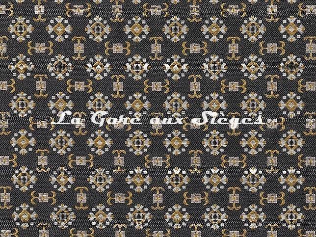 Tissu Dedar - Araldo - réf: T18033.002 Black Diamond - Voir en grand