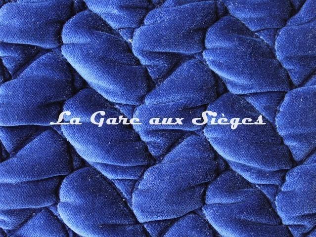 Tissu Dominique Kieffer - Velours Tresse - réf: 17229.04 Iris - Voir en grand