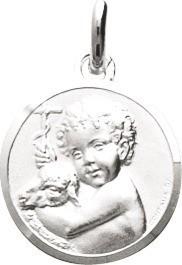 Médaille ange argent rodhié 45 ¤ - Voir en grand