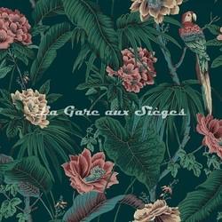 Tissu House of Hackney - Velours Paradisia Spruce Green - Voir en grand