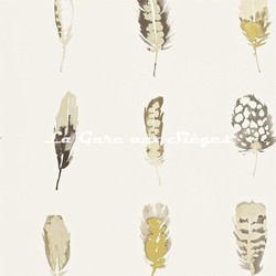 Papier peint Harlequin - Limosa - réf: 111072 Mustard/Charcoal/Stone - Voir en grand