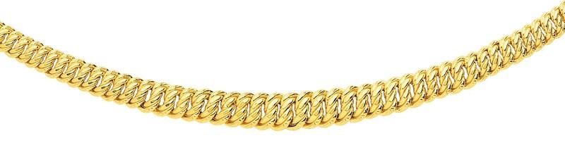 Collier or jaune maille américaine - Collier OR - Bijouterie Horlogerie Lechine - Voir en grand
