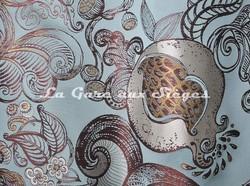 Tissu Tassinari & Châtel - Lampas Ispahan - réf: 1687-02 Opale - Voir en grand