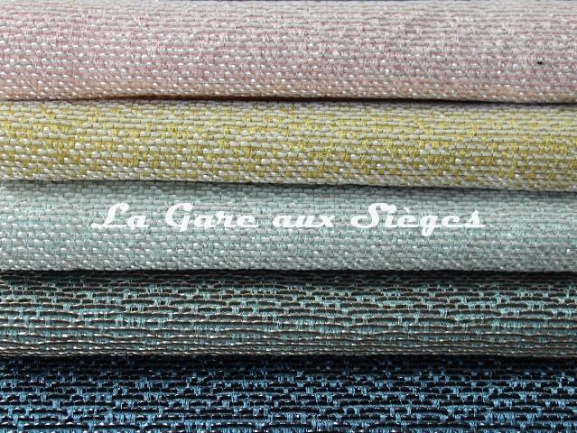 Tissu Rubelli - Almoro - réf: 30113 - Coloris: 06 Cipria/07 Paglia/08 Aquamarina/09 Aqua/10 azzurro - Voir en grand