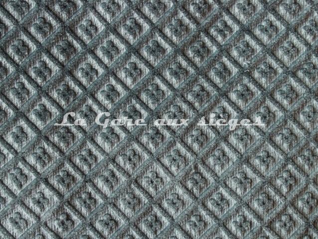 Tissu Chanée Ducrocq - Velours gaufré Matignon - Coloris: 993 Bleu de Sèvres - Voir en grand