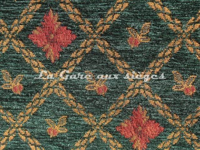 Tissu Amélie Prévot - Rohan- réf: 16076 - Coloris: 33 Vert - Voir en grand