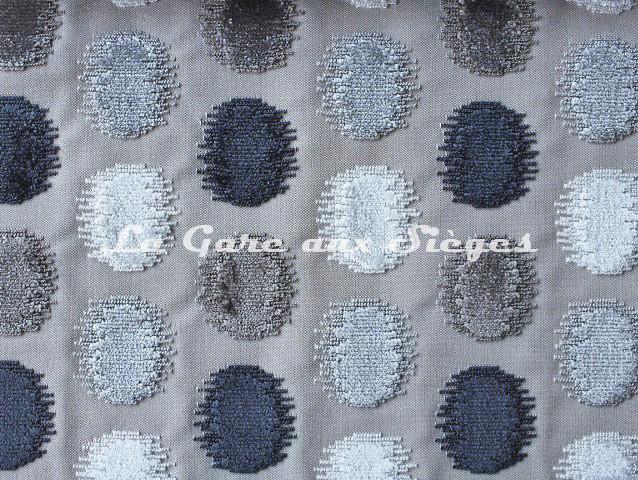 Tissu Osborne & Little - Zelda - réf: F6550-02 - Coloris: Dark dove/Grey/Silver/Ivory - Voir en grand