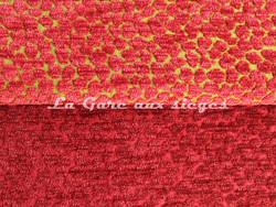 Tissu Chanée Ducrocq - Via Notte - Coloris: 2067 Poivron rouge - 2064 Framboise - Voir en grand
