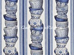 Tissu Pierre Frey - Ming - réf: F2627-003 Saphir - Voir en grand