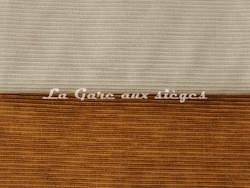 Tissu Luciano Marcato - Anima - réf: LM19524 - Coloris: 73 Beige & 50 Rame - Voir en grand