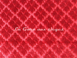 Tissu Chanée Ducrocq - Velours gaufré Rivoli - Coloris: 933 Amarante - Voir en grand