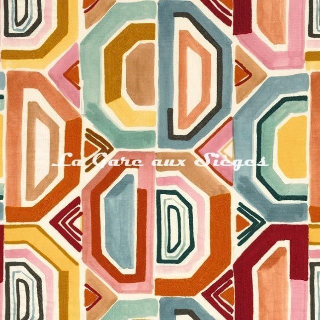 Tissu Casamance Mahlangu - réf: 4744.0259 Multicolore - Voir en grand