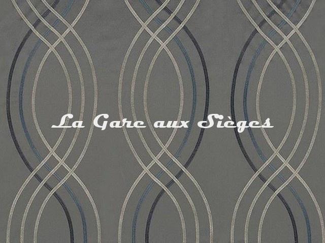 Tissu Casamance - Santara - réf: 3591.0564 Bleu - Voir en grand