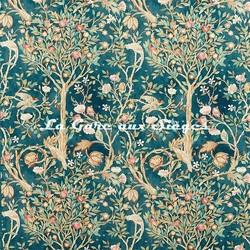 Tissu William Morris - Melsetter - réf: 226601 Indigo - Voir en grand