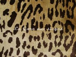 Tissu Nobilis - Velours Léopard - réf: 10497 - Coloris: 10 Cigare - Voir en grand