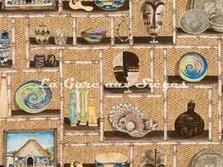 Tissu Pierre Frey - Out of Africa - réf: F3031-001 Multicolore - Voir en grand