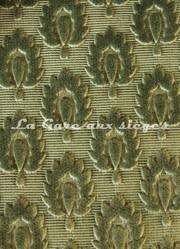 Tissu Chanée Ducrocq - Velours gaufré Suffren - Coloris: 377 Jade - Voir en grand