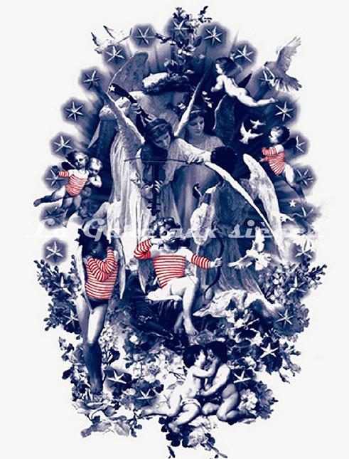 Tissu Jean Paul Gaultier - Moussaillon - réf: 3448-02 - Voir en grand