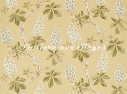Tissu Sanderson - Chestnut Tree - réf: 225516 Lemon/Lettuce - Voir en grand