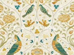 Tissu William Morris - Seasons by May Embroidery - réf: 236826 ( détail ) - Voir en grand