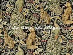 Tissu William Morris - Forest - réf: 222535 Charcoal - Voir en grand