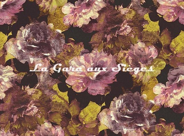 Tissu Rubelli - La Vie en Rose - réf: 30412.001 Rosa/Giallo - Voir en grand