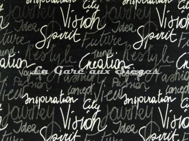 Tissu Casal - Inspiration - réf:12667-0 Ebène - Voir en grand