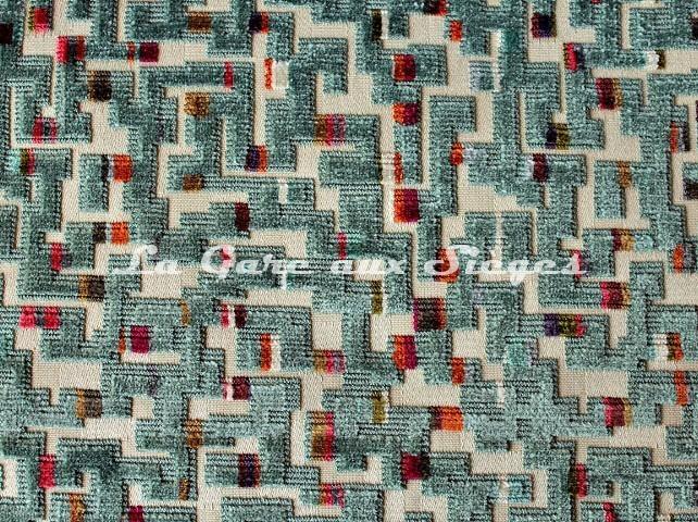 Tissu Casal - Villandry - réf: 12706-12 Turquoise - Voir en grand