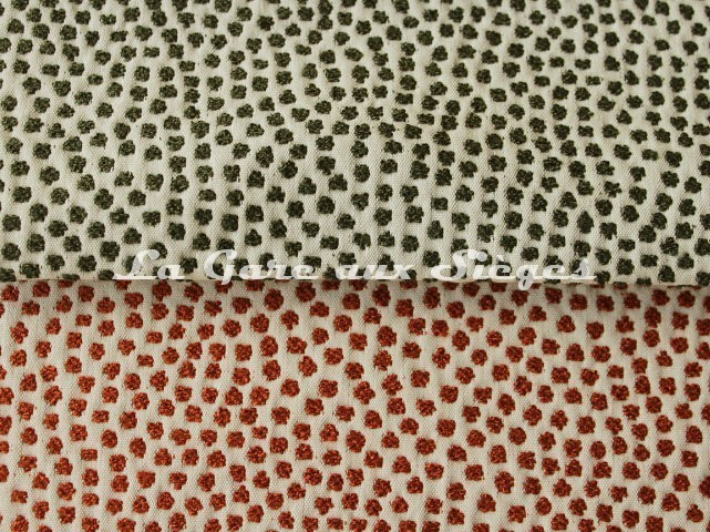 Tissu Jean Paul Gaultier - Escale - réf: 3473 - Coloris: 05 Kaki & 06 Brique - Voir en grand