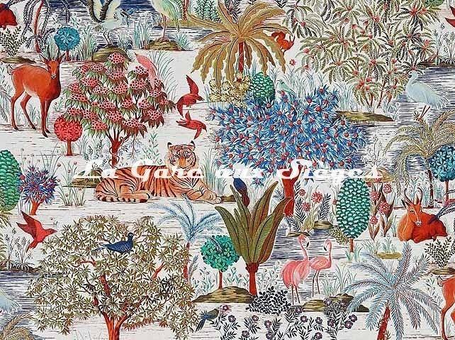 Tissu Pierre Frey - Le jardin du palais - réf: F3469.001 ( détail ) - Voir en grand