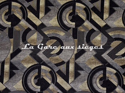 Tissu Casal - Sonia - réf: 16208.630 Gris Noir - Voir en grand