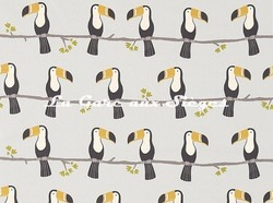 Tissu Scion - Terry Toucan - réf: 120465 Putty/Charcoal/Dove - Voir en grand