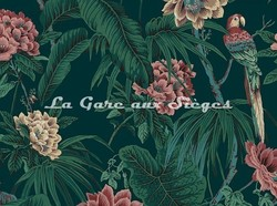 Tissu House of Hackney - Velours Paradisia - Coloris: Spruce Green - Voir en grand