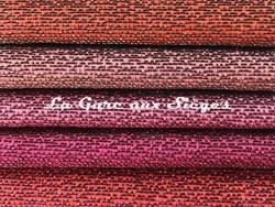 Tissu Rubelli - Almoro - réf: 30113 - 16 Mattone/17 Legno di rosa/18 Geraneo/19 Fuxia/20 Corallo - Voir en grand