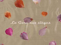 Tissu Casamance - Kari - réf: 824.0150 Lilac & Apricot - Voir en grand