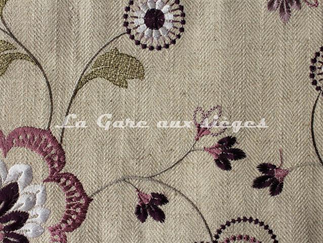 Tissu Clarke & Clarke - Chatsworth - réf: F0735 - Coloris: 05 Orchid - Voir en grand