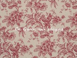 Tissu Clarke & Clarke - Provence - réf: F0774-05 Rapsberry - Voir en grand