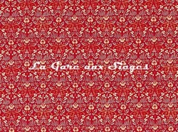 Tissu William Morris - Eye Bright - réf: 226599 Red - Voir en grand