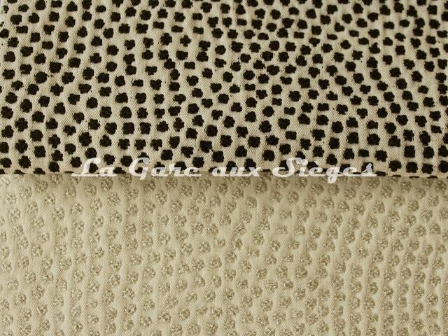 Tissu Jean Paul Gaultier - Escale - réf: 3473 - Coloris: 01 Noir & 02 Naturel - Voir en grand