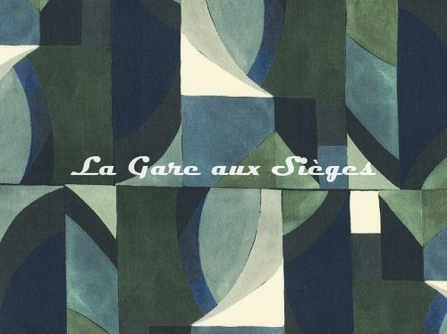 Tissu Misia - Les Ondes de Jade - réf: M164503 Vert Olive - Voir en grand